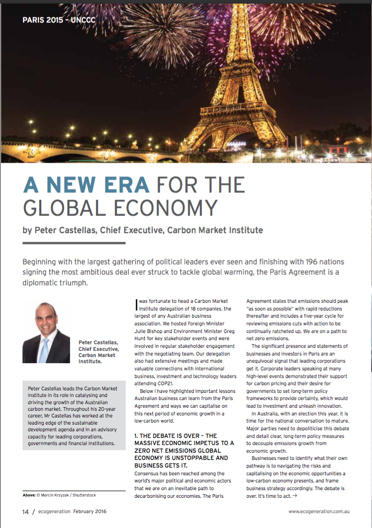 A New Era For The Global Economy p1